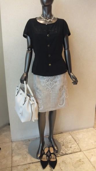 DUAL VIEWコード刺繍スカート&MIYAZAKIMASAHIRODESIGNWORKS半袖ブラウスジャケット