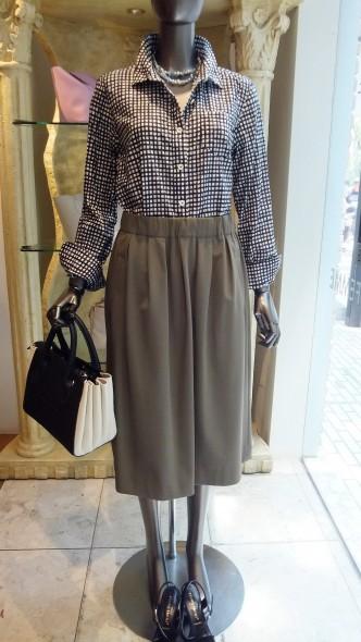 ギンガムチェックシャツをコーディネートで♫ RESPECギンガムシャツ&ワイドクロップドパンツ&DUAL VIEWスカート