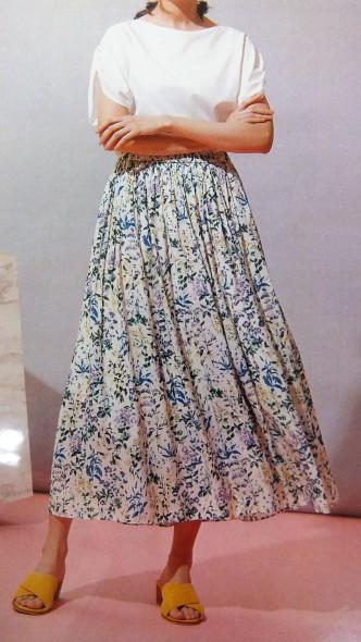 ふんわりロングスカート♡春のスカートです♪ portcrosカラーロングスカート&フラワープリントスカート