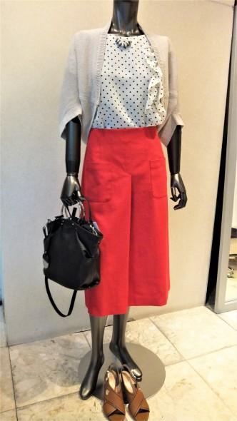 DUAL VIEW台形スカート&portcrosワイドパンツ