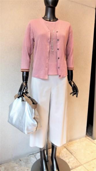 ALDRIDGEアンサンブルニット&DUAL VIEWチュールアレンジガウチョパンツ&CHILLEAプリントスカート&Coombハット