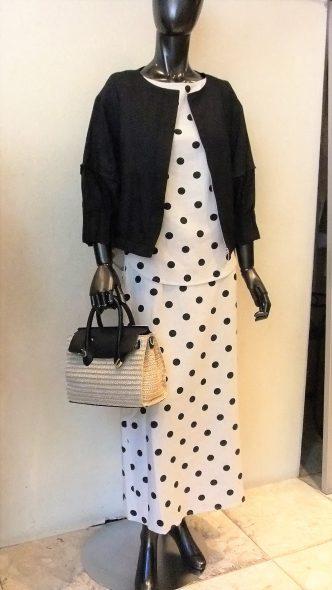 YAMATO DRESS ドット柄ブラウス&スカート